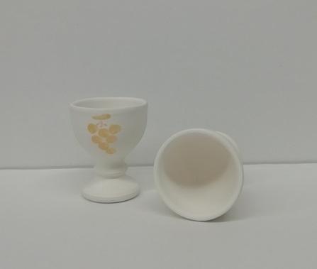 Calice in terracotta bianco comunione