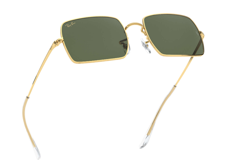 Ray Ban - Occhiale da Sole Unisex, Rectangle 1969 Legend Gold, Gold/Green Shaded  RB1969 919631  C54