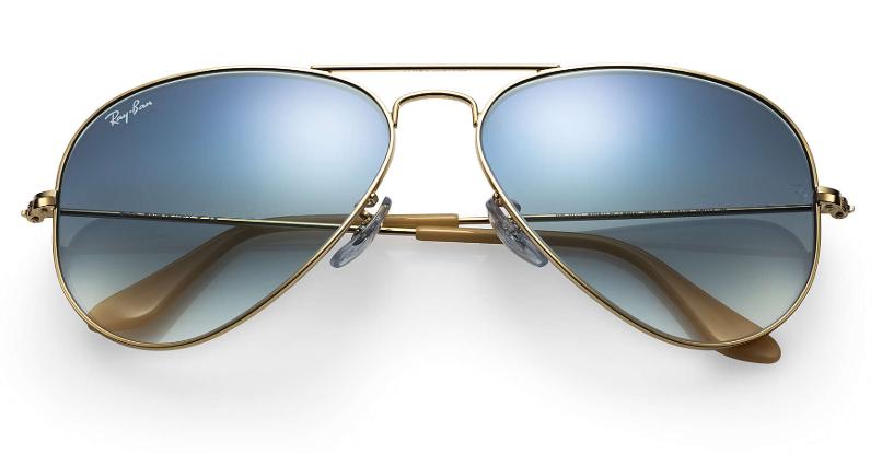 Ray Ban - Occhiale da Sole Unisex, Aviator Gradient, Gold/Blue Shaded   RB3025 001/3F  C58