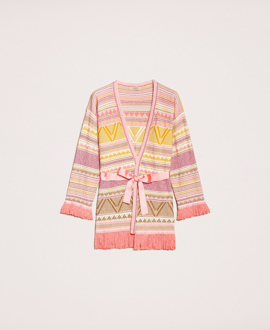 SHOPPING ON LINE TWINSET MILANO MAXI CARDIGAN CON FRANGE NEW COLLECTION  WOMEN'S SPRING SUMMER 2020