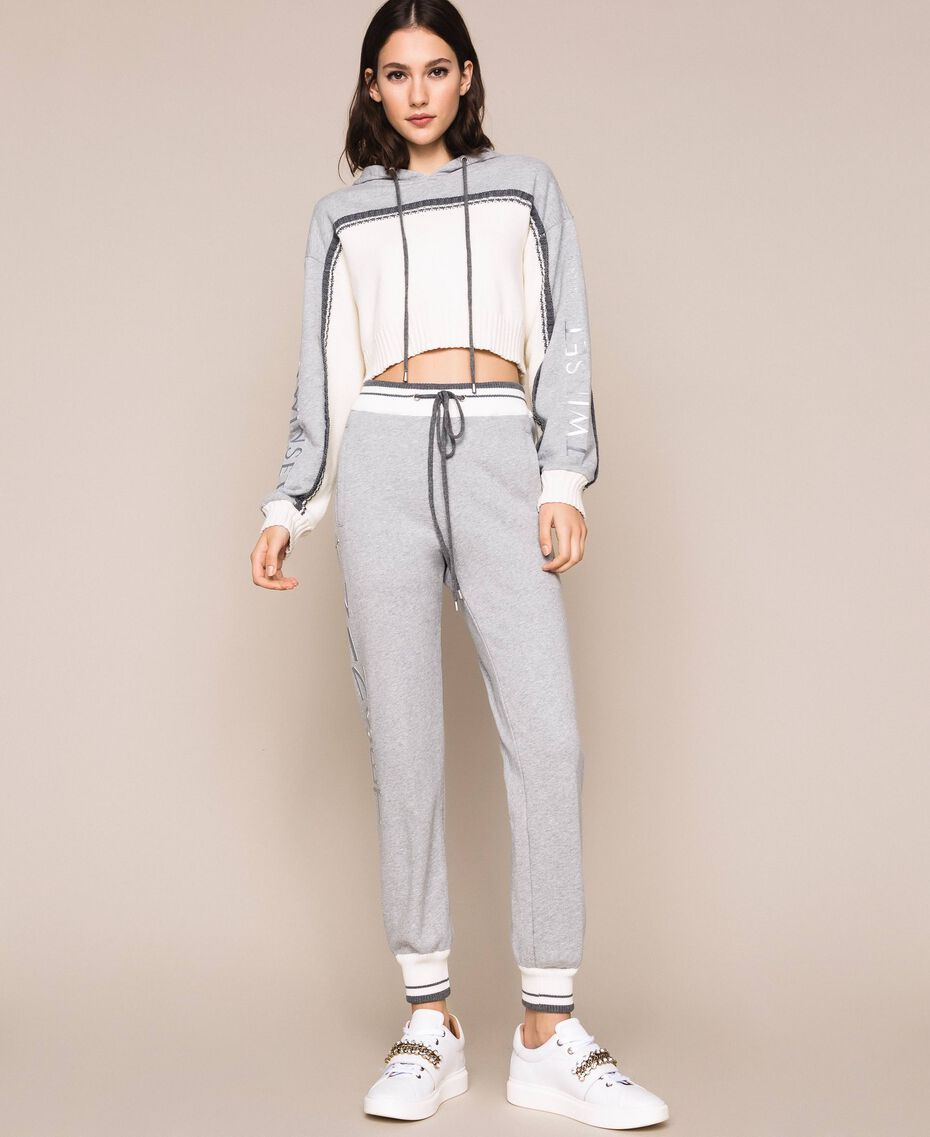 SHOPPING ON LINE TWINSET MILANO PANTALONI JOGGING IN FELPA CON LOGO STAMPATO NEW COLLECTION  WOMEN'S SPRING SUMMER 2020