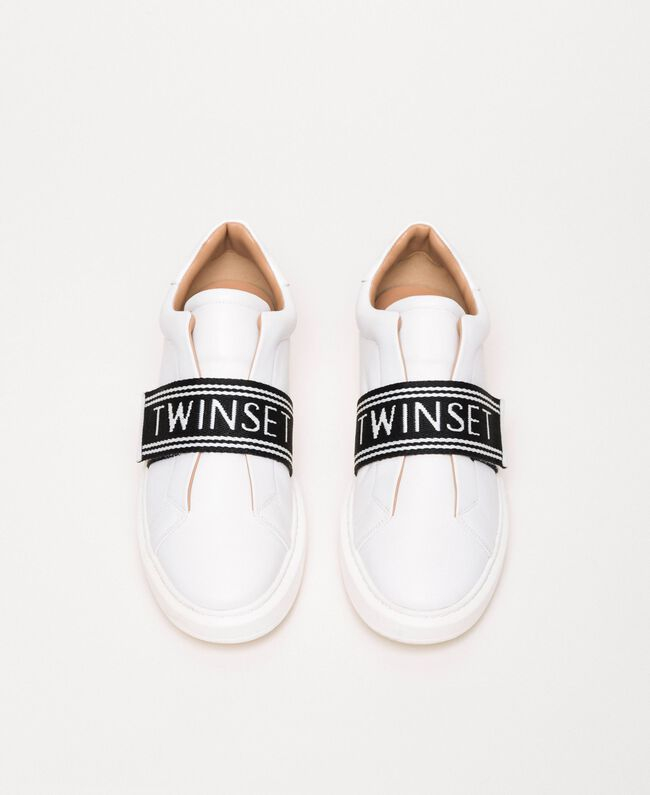 SHOPPING ON LINE TWINSET MILANO SNEAKERS IN PELLE CON LOGO NEW COLLECTION  WOMEN'S SPRING SUMMER 2020