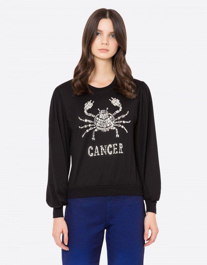 T-shirt manica lunga Cancer Alberta Ferretti