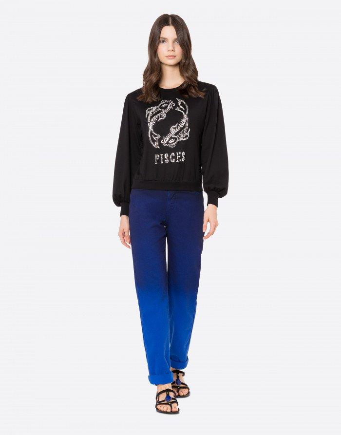 T-shirt manica lunga Pisces Alberta Ferretti