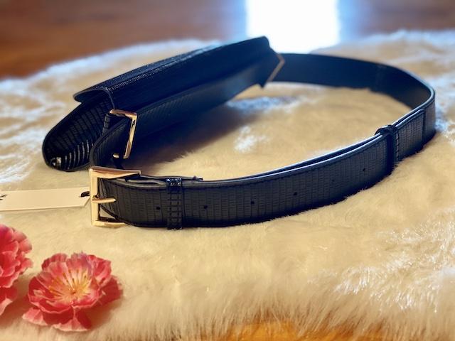Marsupio Nalì nero rettile con cintura