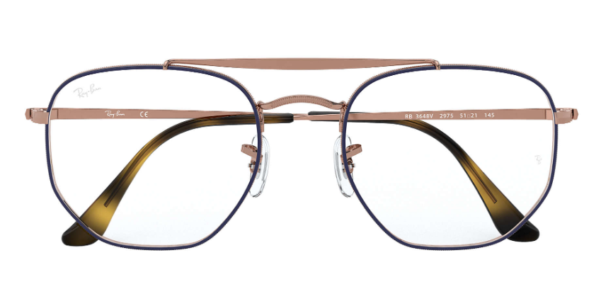Ray Ban - Occhiale da Vista Unisex, Copper On Top Matte Blue  RB3648V  2975  C54