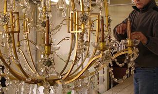 Componenti e materiale per restauro lampadari