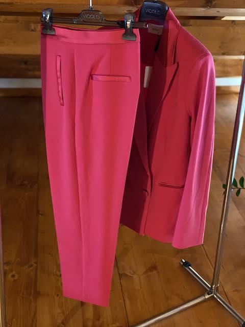Pantaloni Vicolo profili in raso Fucsia