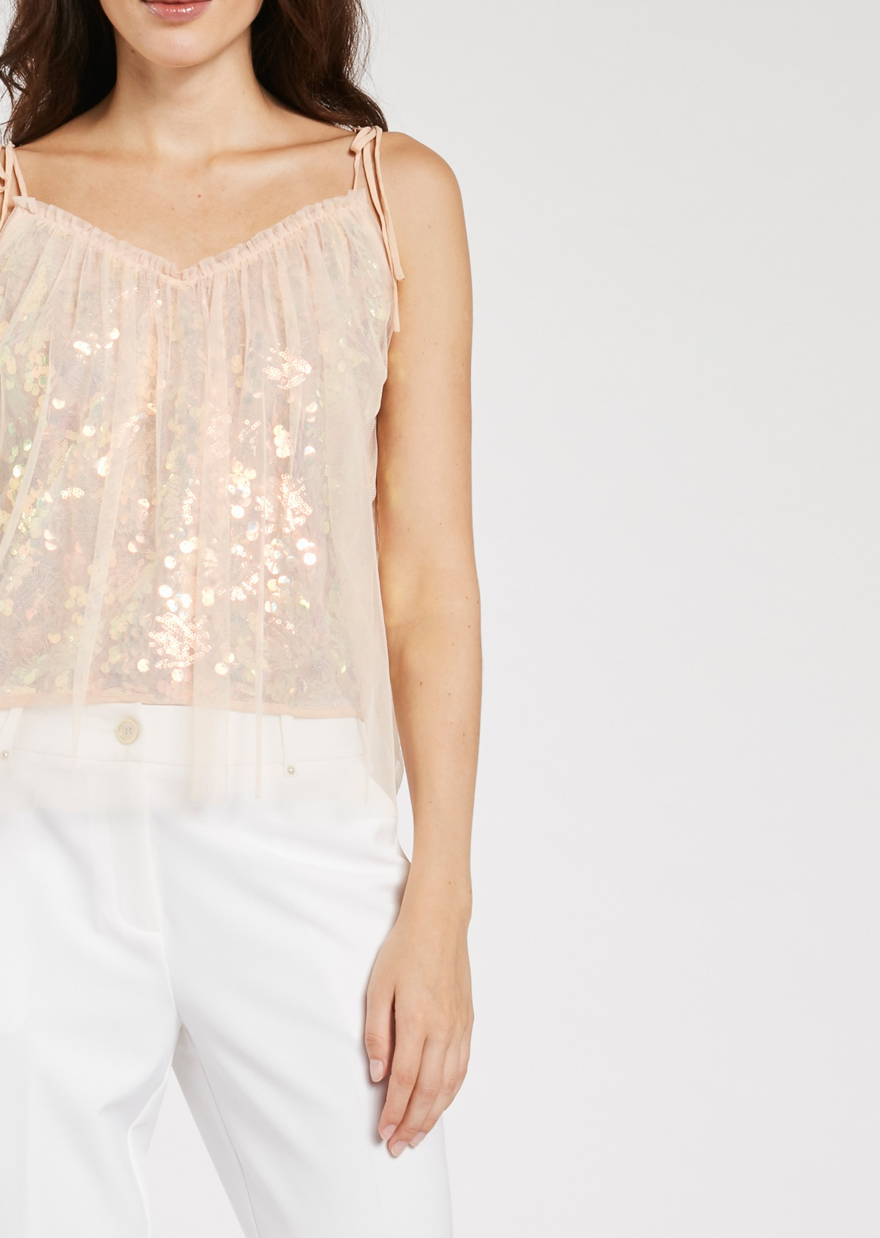 Top in tulle e paillettes GAUDì
