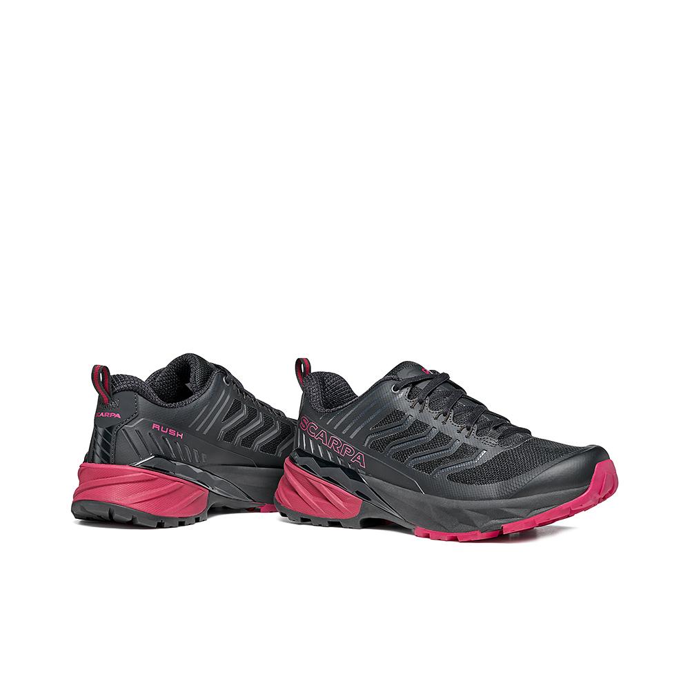 RUSH WOMAN  -   Trail Running for long distances on wet terrain  -  Black-Cherry