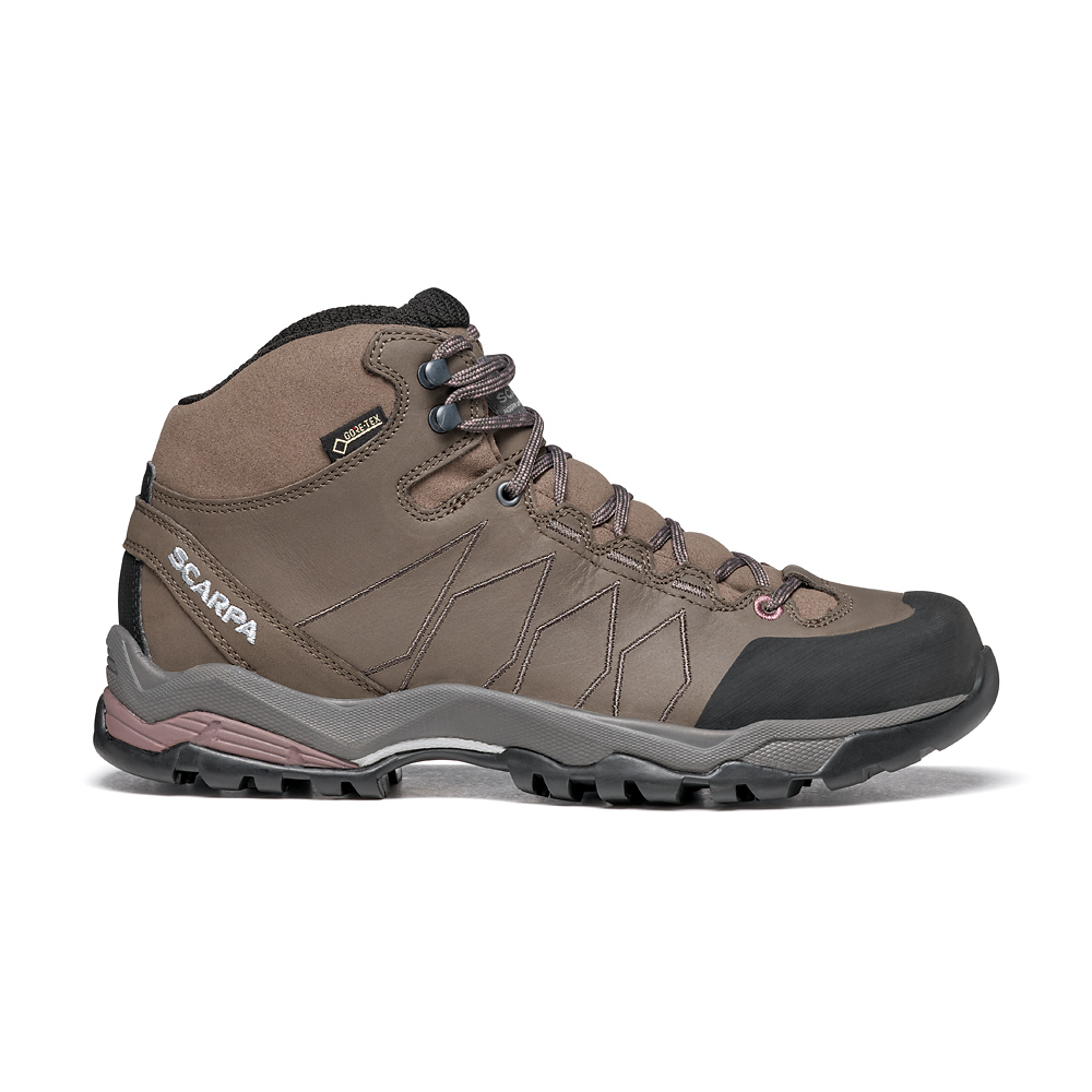 MORAINE PLUS MID GTX WMN   -   Protective for hiking on mixed terrains, waterproof   -   Charcoal-Dark Plum