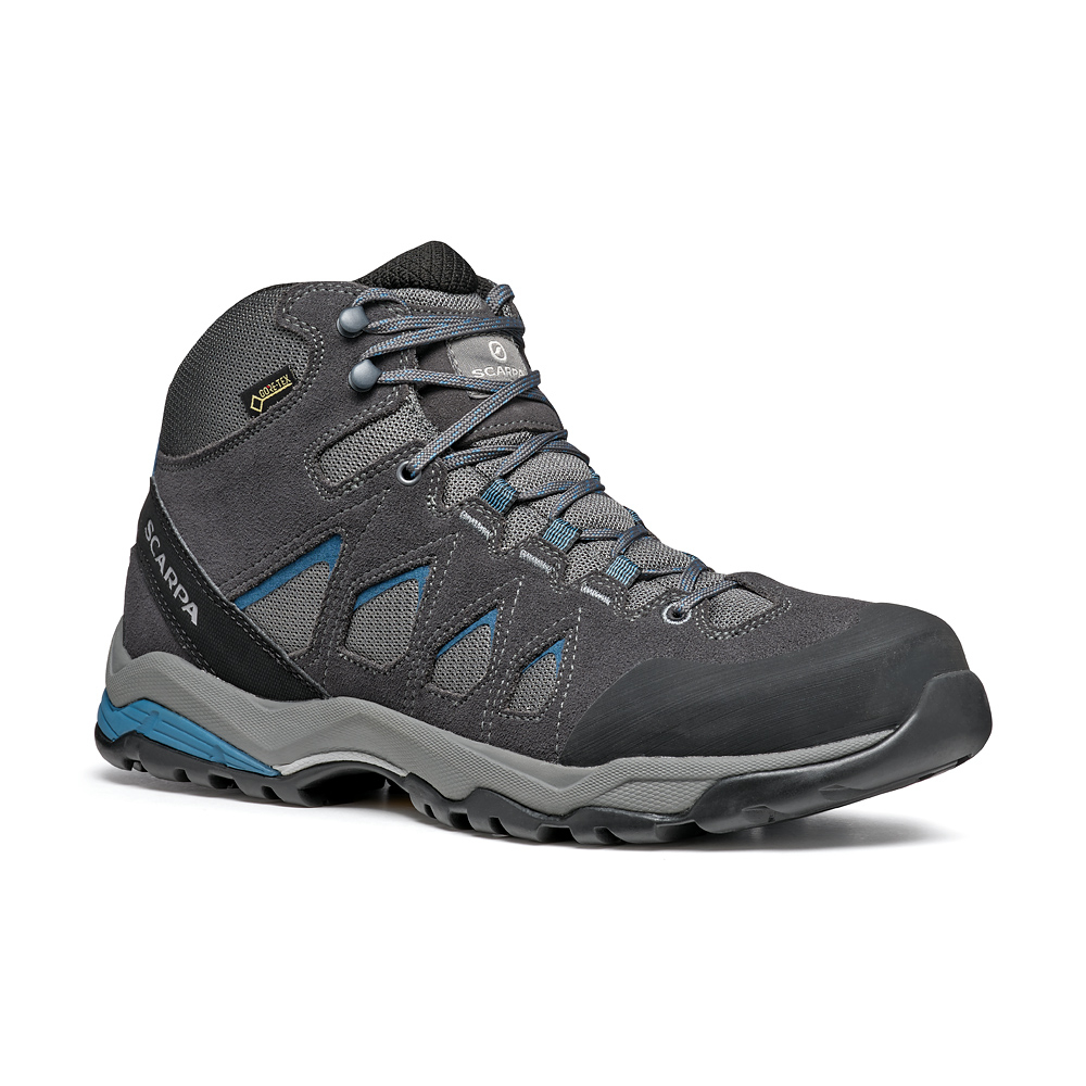 MORAINE MID GTX   -   Protective for hiking on mixed terrains, waterproof   -   Gray-Storm Gray-Lake Blue