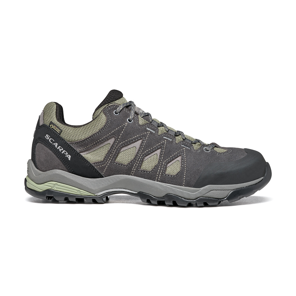 MORAINE GTX   -   Protective for hiking on mixed terrains, waterproof   -   Lichen Green-Storm Gray-Gray