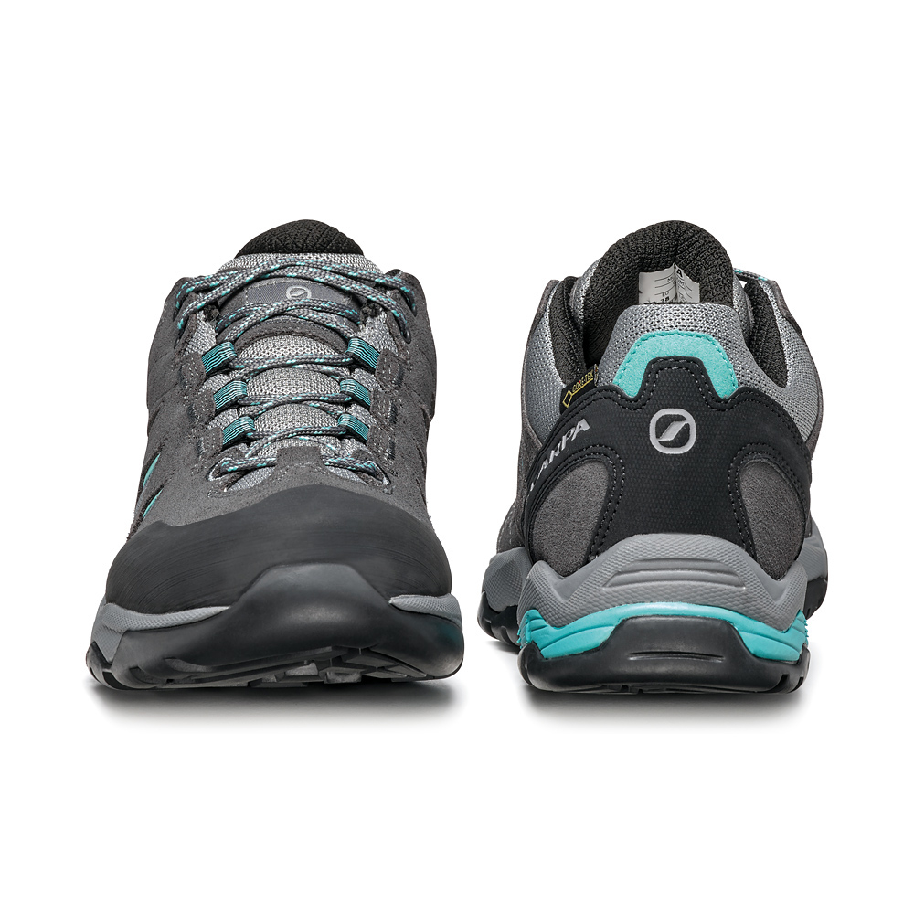 MORAINE GTX WOMAN   -   Hiking lunghe camminate, uso cittadino, Impermeabile   -   Midgray-Storm Gray-Lagoon Green