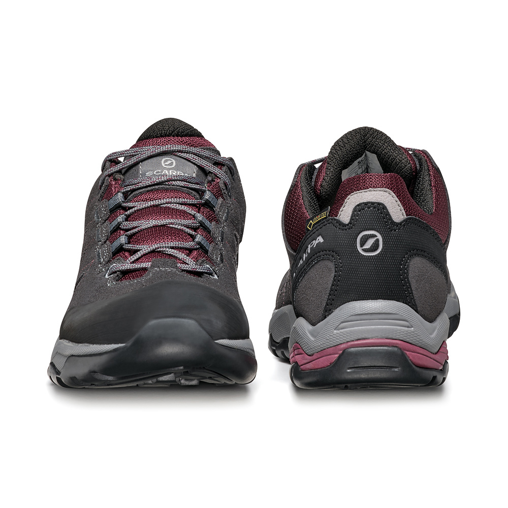 MORAINE GTX WMN   -   Protective for hiking on mixed terrains, waterproof   -   Eggplant-Storm Gray-Light Gray