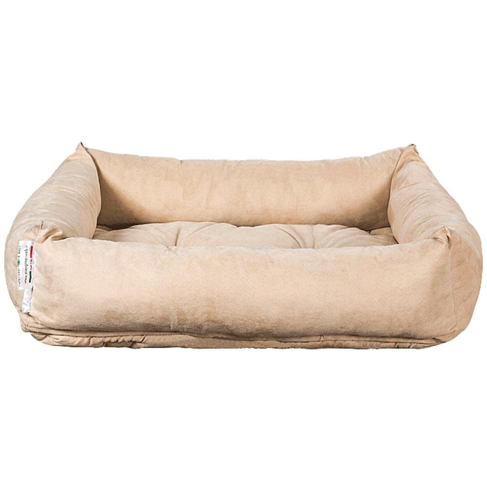 Materassino  per Cani color Beige, Imbottitura in Waterfoam Morbido Lavabile in Lavatrice, Cuccia da Interno con Cuscino Estraibile  REX