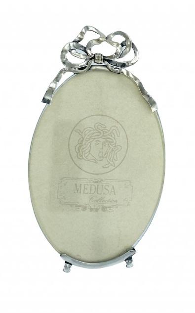 CORNICE OVALE IN ARGENTO 925 (35 G ) MEDUSA DIMENSIONI 10X13 CM
