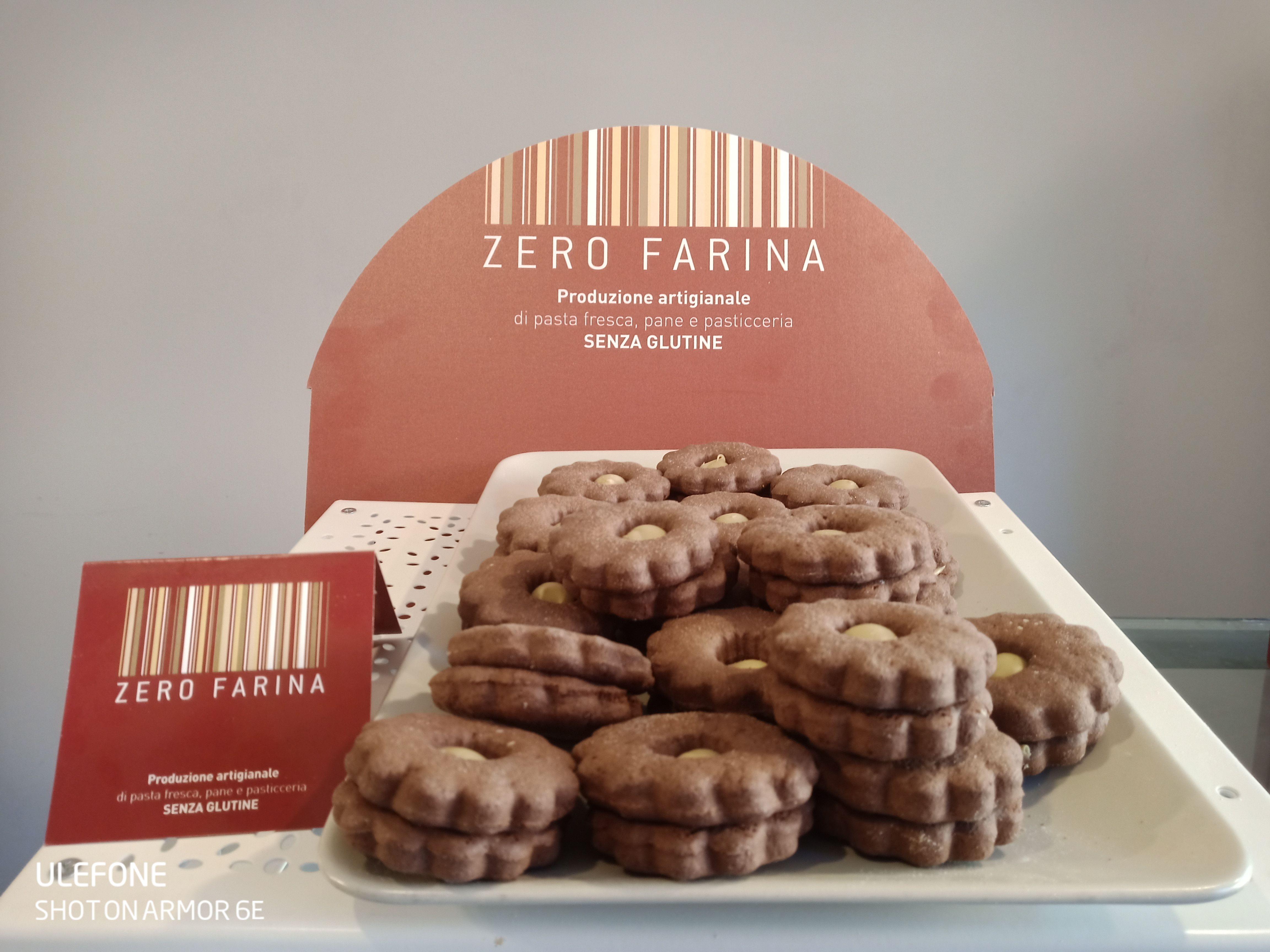 Occhi di Bue al Cacao con Crema di Pistacchio Senza Glutine - 250 gr (8/12 pz)