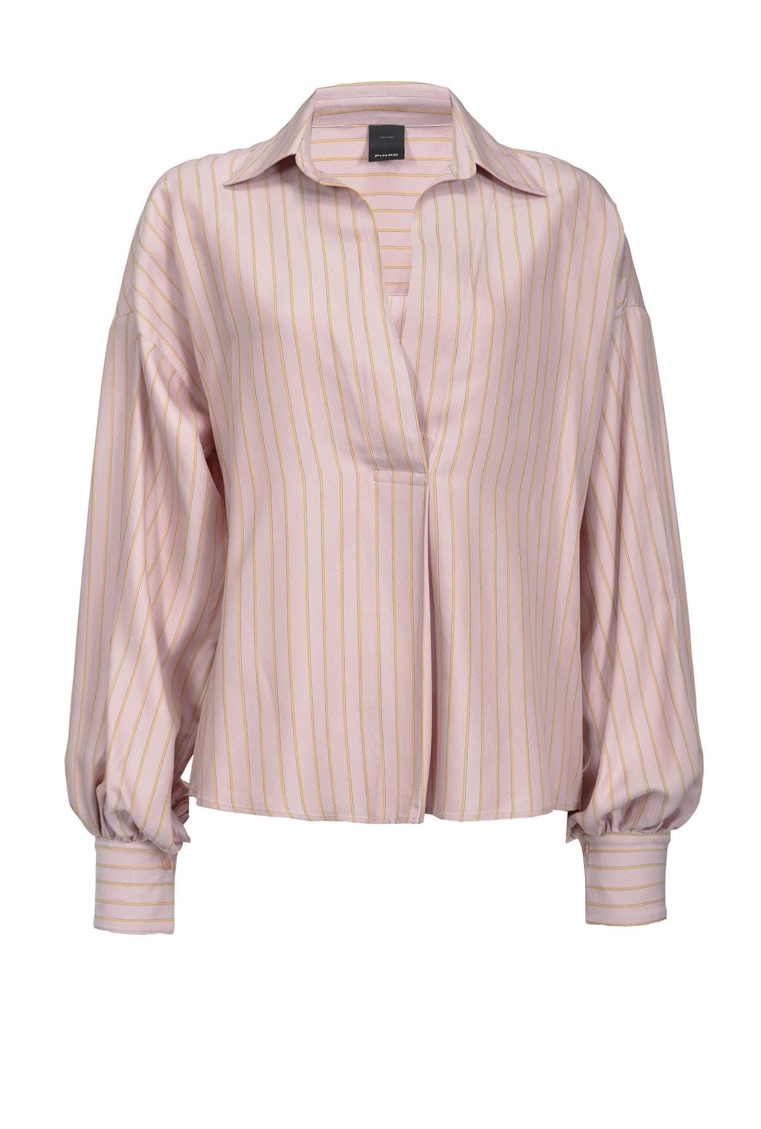 SHOPPING ON LINE PINKO BLUSA IN TWILL RIGATO FRITTURA NEW COLLECTION WOMEN'S SPRING SUMMER 2020