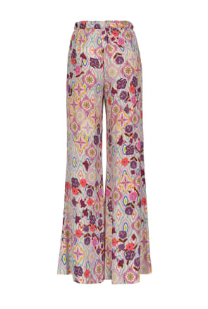 SHOPPING ON LINE PINKO PANTALONI STAMPA FIORE IKAT GTO NEW COLLECTION WOMEN'S SPRING SUMMER 2020