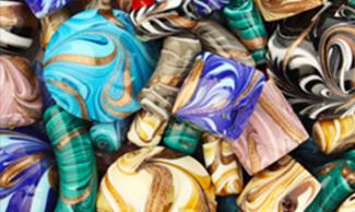 Perle in vetro di Murano, conteria per bigiotteria, gioielli collane e bracciali
