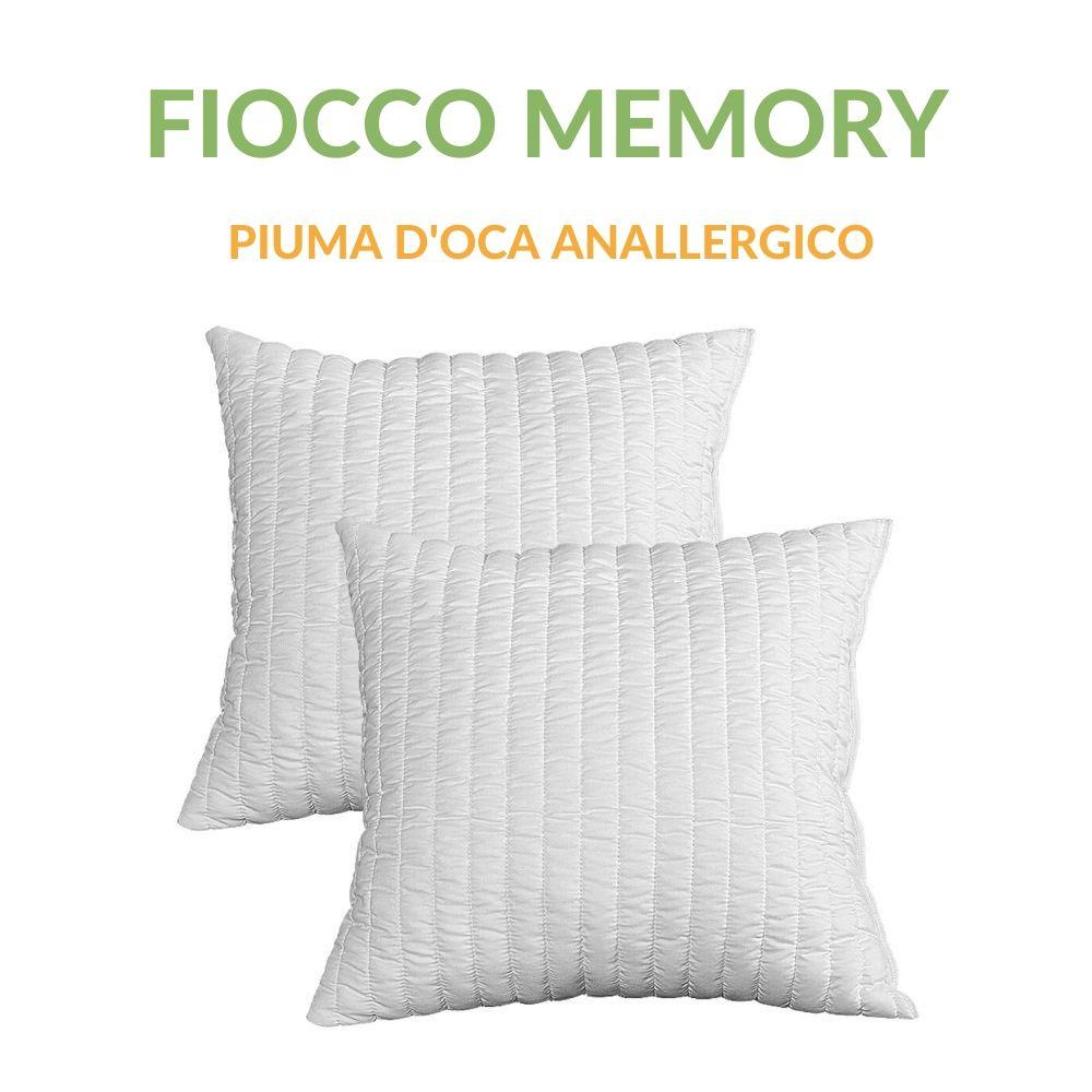 Cuscini Arredo in Piuma Memory Foam effetto Piuma D'oca Anallergico Antiacaro Morbidi