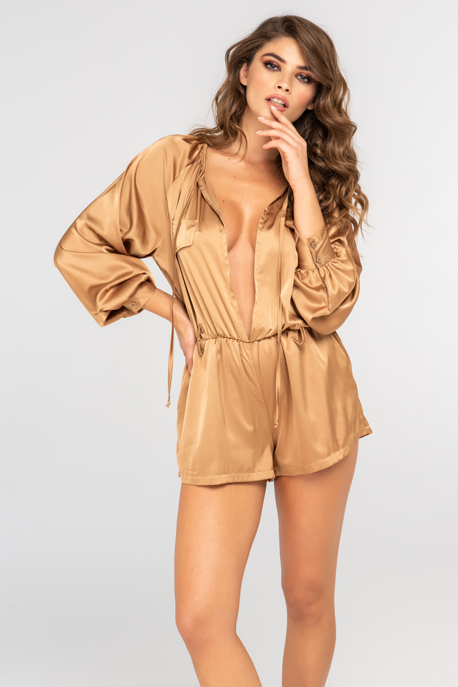 AMBRA - SATIN PLAYSUIT
