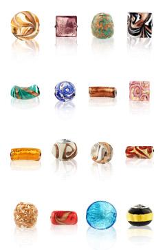 Perle, perline originali in vetro di Murano per bijioux fai da te