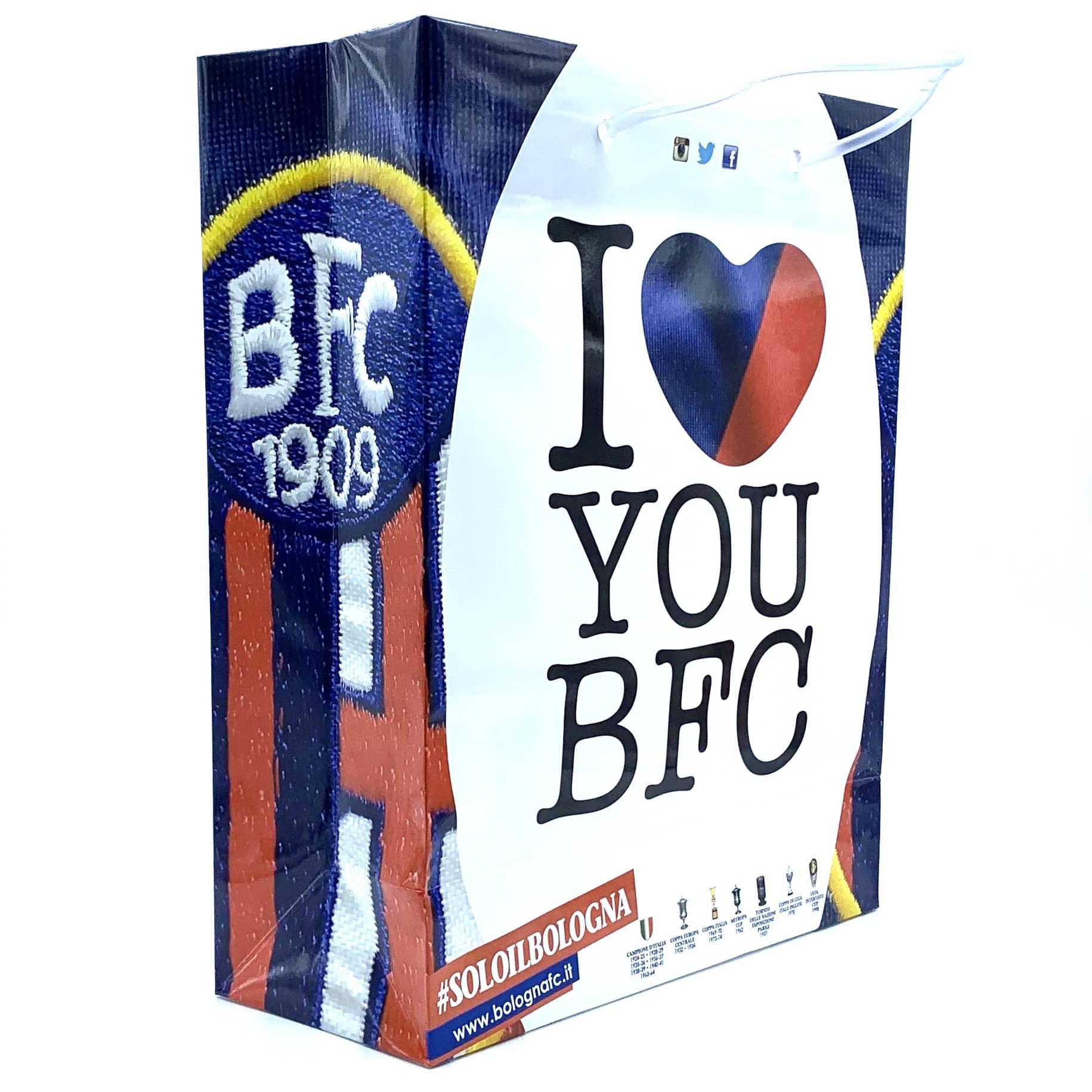 Bologna Fc SHOPPER I LOVE YOU BFC Grande