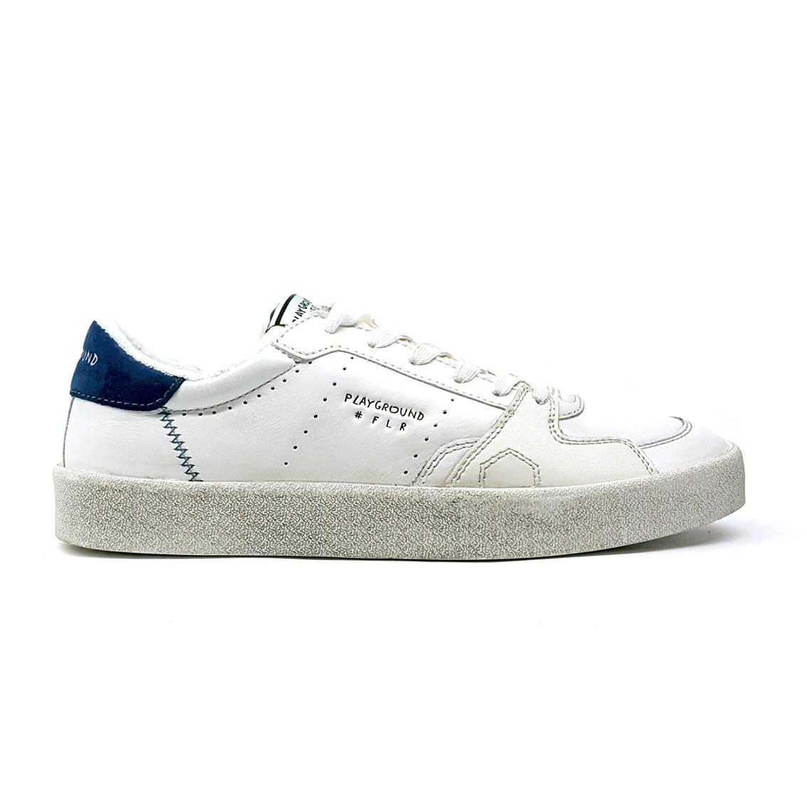 Sneaker bianca/blu Moa
