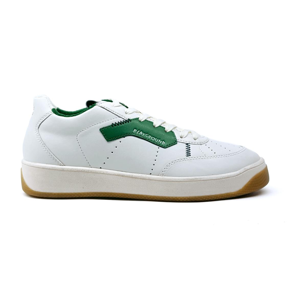 Sneaker bianca/verde vintage Moa