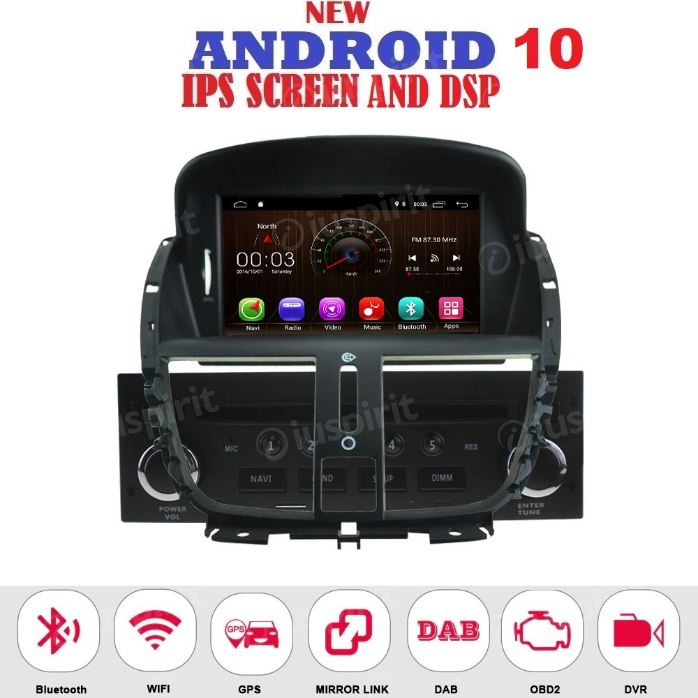 ANDROID autoradio navigatore per Peugeot 207 2007-2014 GPS DVD USB SD WI-FI Bluetooth Mirrorlink