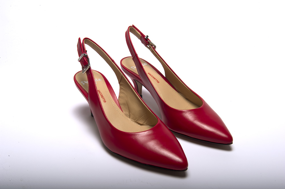 Perlato Chiffon kiss - Decoltè chanel rosso lavorazione a sacchetto