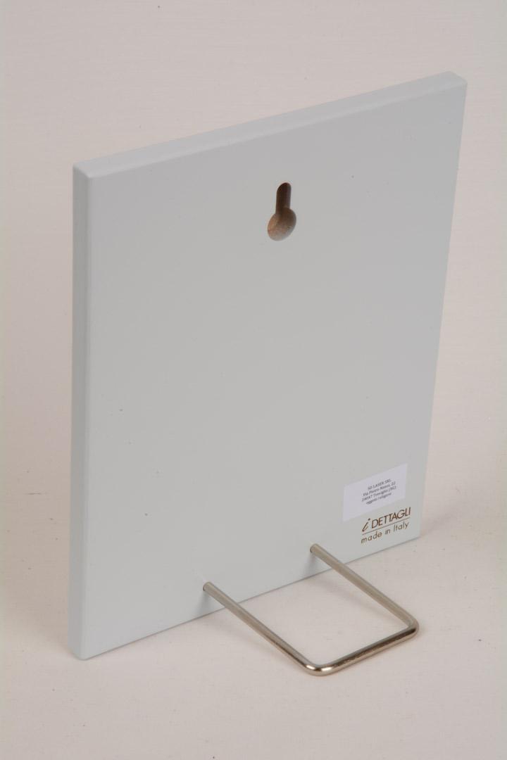 Quadretto Regalo Angelo del Battesimo 15x12 cm Legno Laccato