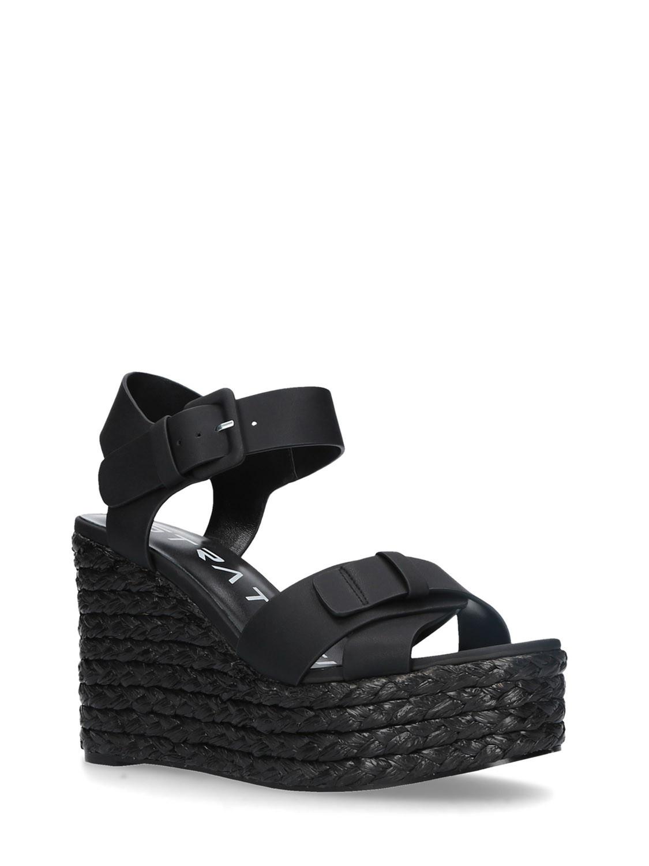 Sandali in corda colore nero - STRATEGIA