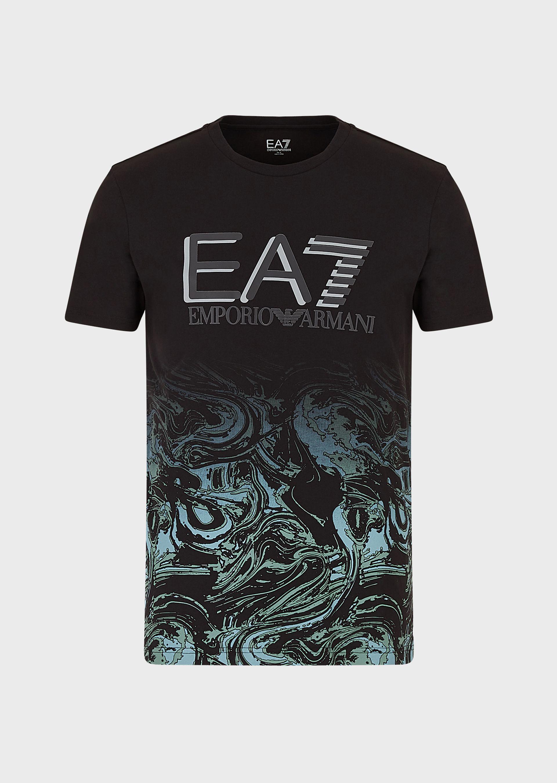 T-shirt uomo ARMANI EA7 con stampa fantasia