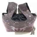 Gray bag full strass rosa - PINKO