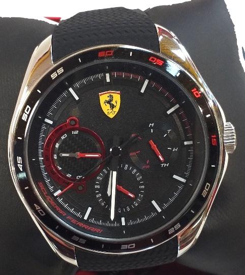 Ferrari Speedracer Multi Function With Silicon Strap