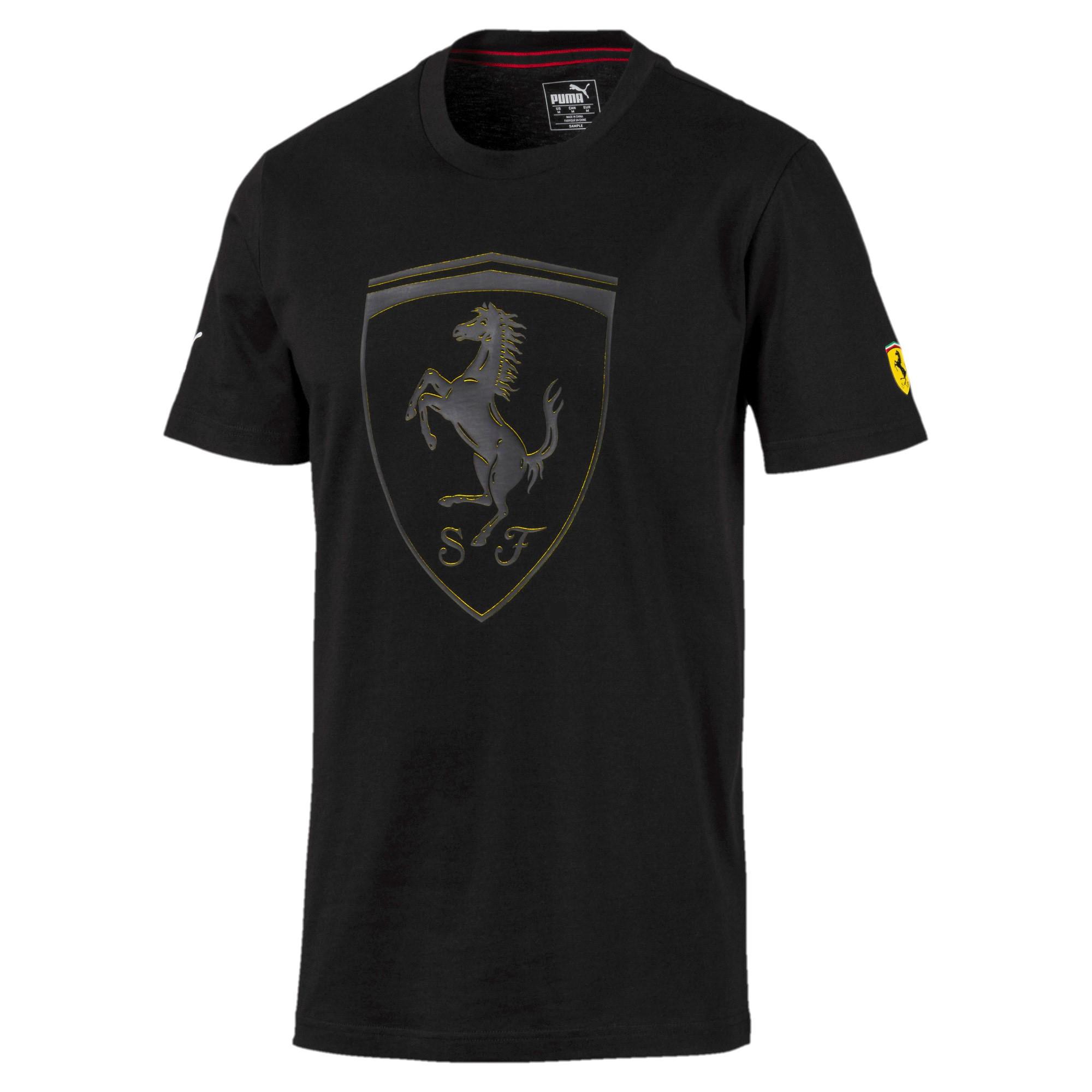 SF Scuderia Ferrari  Big Shield Tee Puma Black