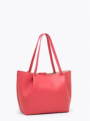 Borsa shopping media in pelle colore rosso - PATRIZIA PEPE