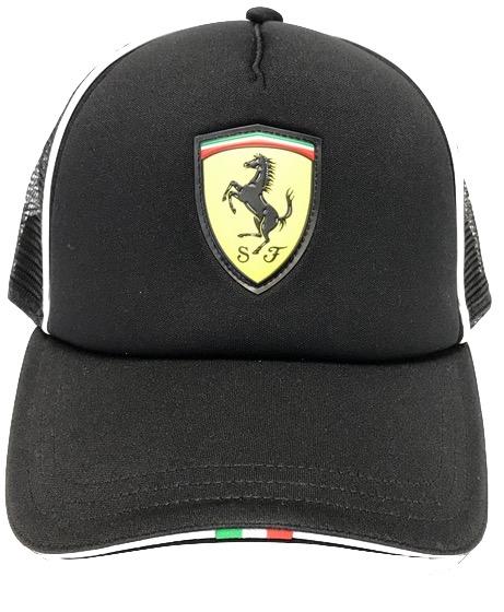 Scuderia Ferrari Fanwear Trucker Cap Puma Black