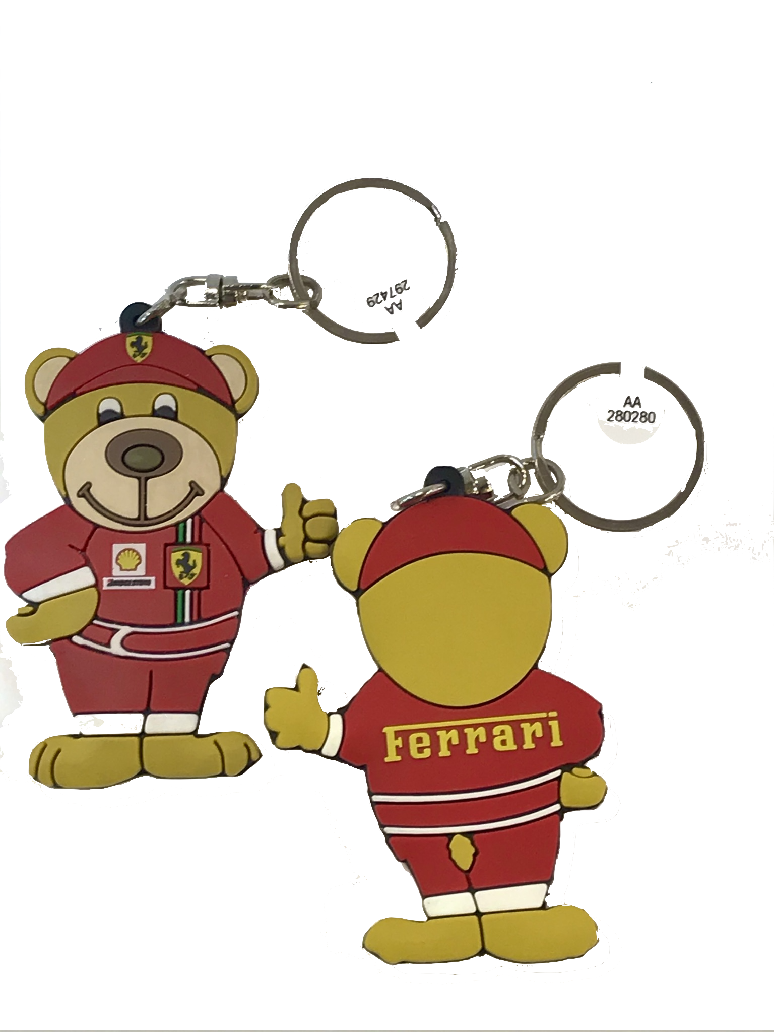 Scuderia Ferrari Teddy World Champion Keyring
