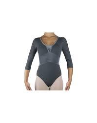 Body Intermezzo maniche 3/4  velluto -supplex