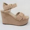 Sandalo in pelle scamosciata cipria -STRATEGIA