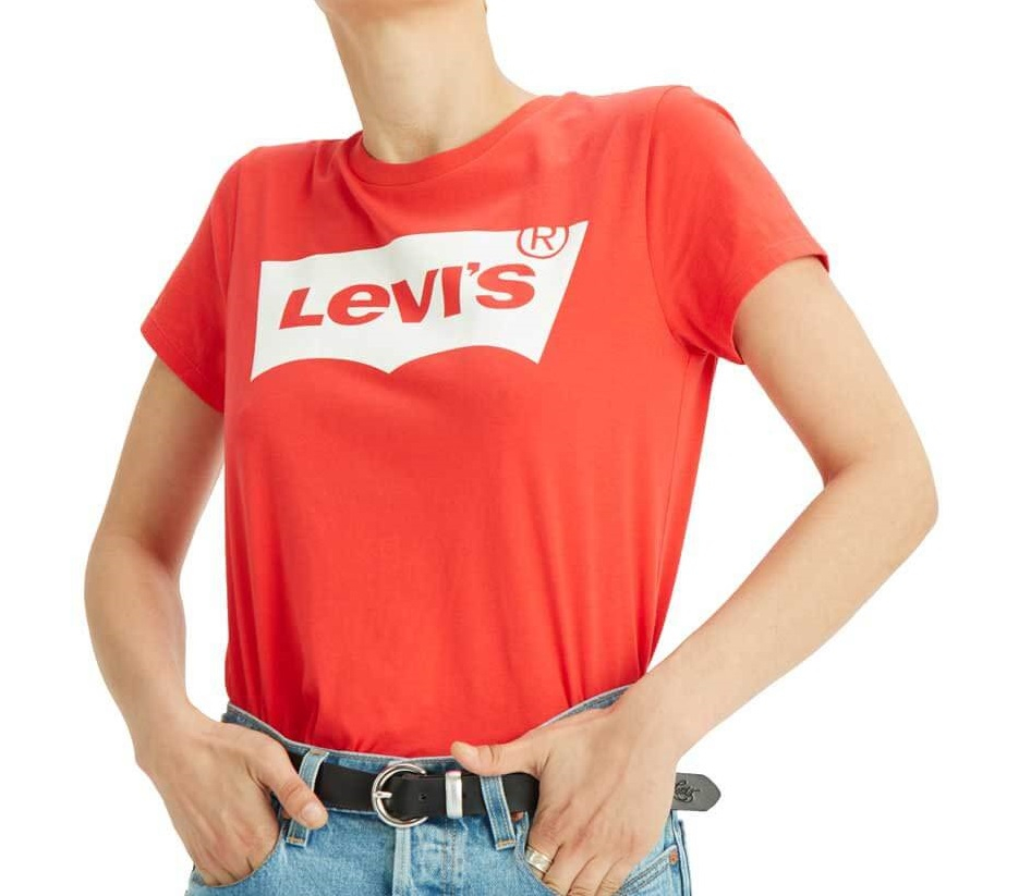 T-shirt donna LEVI'S con batwing logo
