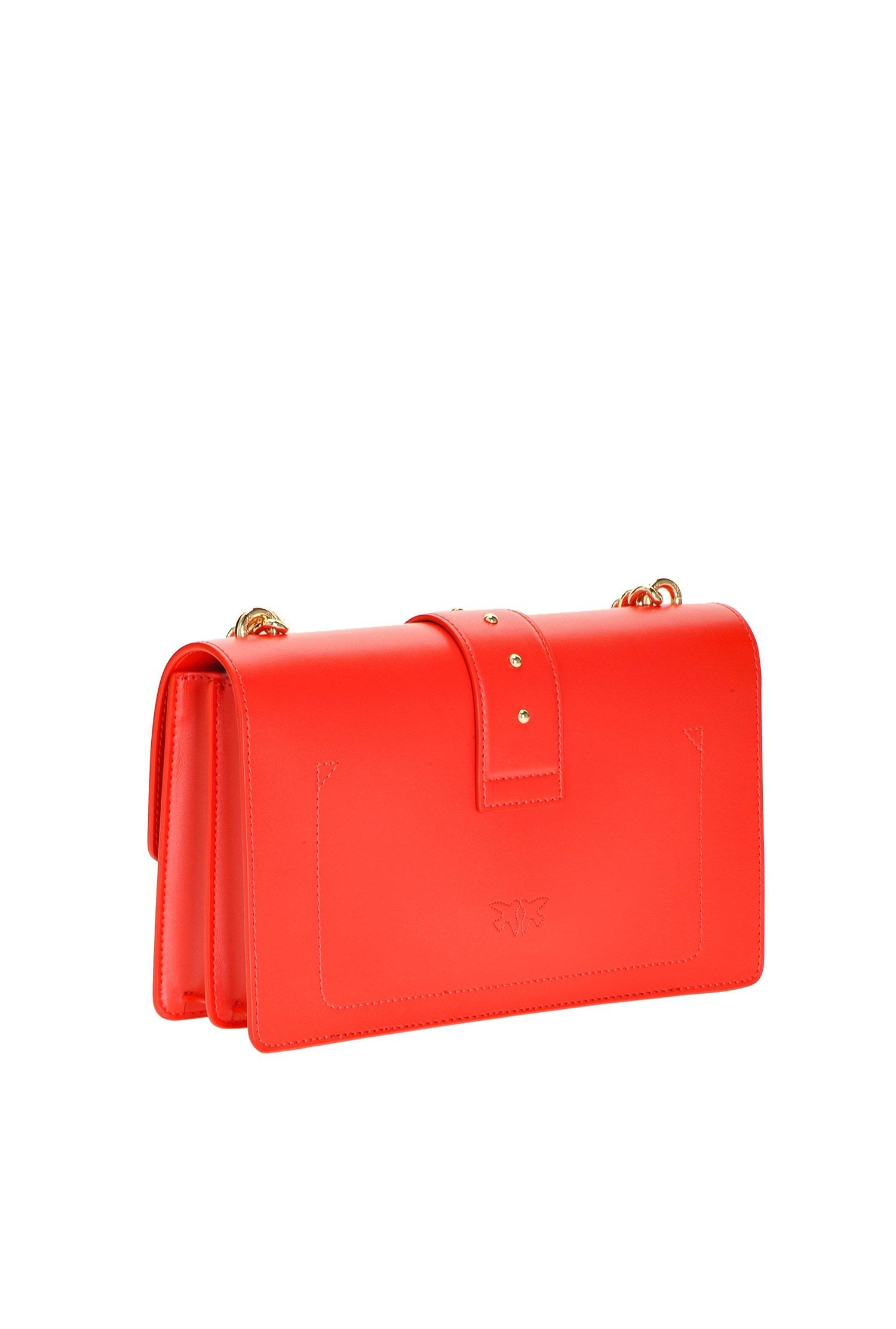 Love bag in pelle rossa Pinko.