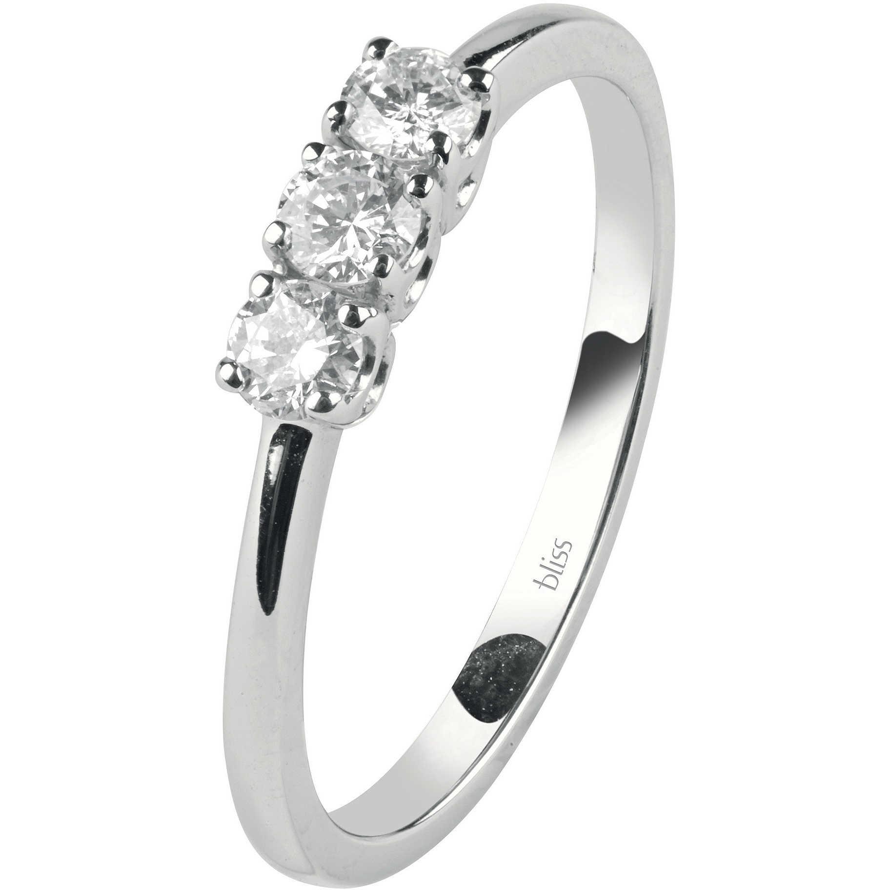 Bliss ANELLO TRILOGY oro bianco e diamanti ref. 20073217
