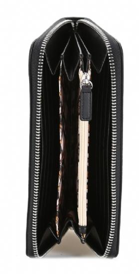 Portafoglio Xl Zip Around borchie nero - LIU JO