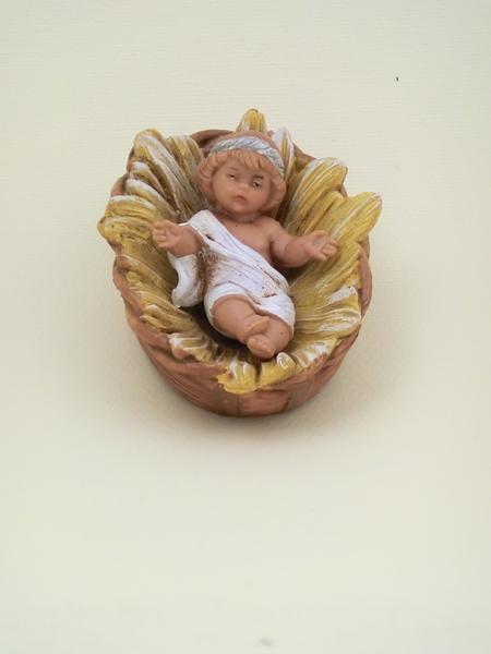 Gesù Bambino stile arabo in culla per cm 12