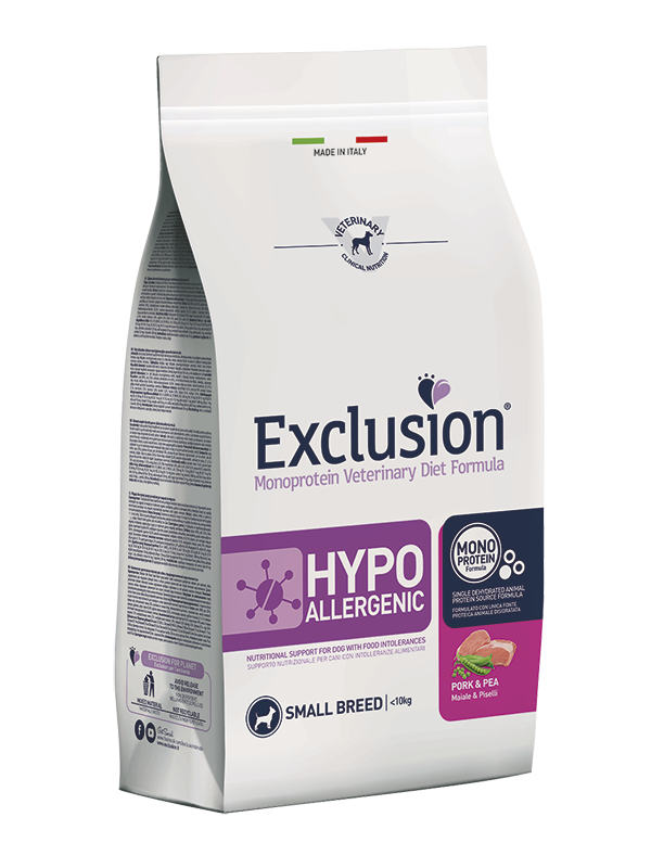 Exclusion Diet Hypoallergenic Small Breed Maiale e Piselli